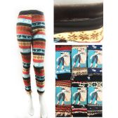 12 Units of Wholesale Fleece Double Layered Thick Leggings Assorted