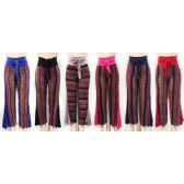 12 Units of Wholesale Strap Waist Tye Palazzo Pants with Flare sides