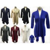 12 Units of Wholesale Knitted Solid Color Cardigans One size fits most