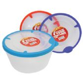 48 Units of 54 OZ FOOD CONTAINER WITH RUBBER RIM LIDS - Food Storage Bags & Containers