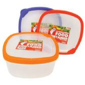48 Units of 60 OUNCE SQUARE FOOD CONTAINER - Food Storage Bags & Containers
