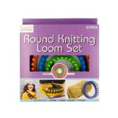 6 Units of Round Knitting Loom Set - Sewing Needles/Sets