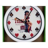 12 Units of Texas Hold'em Wall Clock