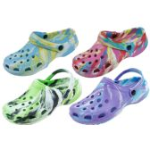 48 Units of Ladies Tie Dye Garden Shoes