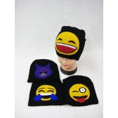 60 Units of Assorted Emoji Beanie Hat (Adult)