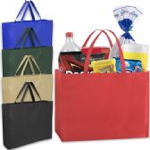 100 Units of 19 Inch Shopper Non Woven Tote Bag - Assorted Colors - Tote Bags & Slings