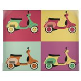 24 Units of Vintage Scooters Pop Art Canvas Wall Art - Home Decor