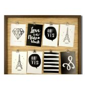 6 Units of Brown Wire Lines Photo Frame - Photo Frame