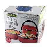12 Units of Stackable 2-Tier Lunch Box - Lunch Bags & Accessories