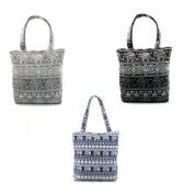 36 Units of Mid Size Tote in Elephant Print - Tote Bags & Slings
