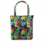 36 Units of Mid Size Tote in a Cool Peace Print - Tote Bags & Slings