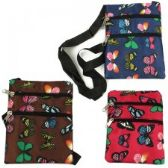 240 Units of Mini Cross Body Bag With A Butterfly Print - Tote Bags & Slings