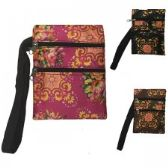 240 Units of Mini Cross Body Bag With A Chinese Floral Print - Tote Bags & Slings