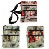 240 Units of Mini Cross Body Bag With A City Street Print - Tote Bags & Slings
