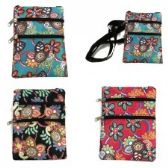 240 Units of Mini Cross Body Bag With A Vibrant Floral Print - Tote Bags & Slings