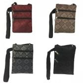 240 Units of Mini Cross Body Bag In A Geometric Jacquard Print - Tote Bags & Slings
