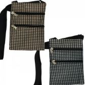 240 Units of Mini Cross Body Bag In A Houndstooth Print - Tote Bags & Slings