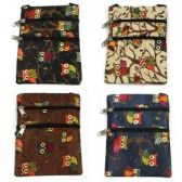 240 Units of Mini Cross Body Bag With A Cute Owl Print - Tote Bags & Slings