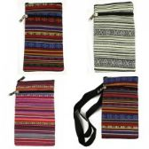 120 Units of Mini Cross Body Bag in Assorted Guatemalan Print - Tote Bags & Slings