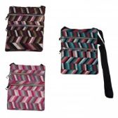 120 Units of Cross Body Bag in Quilted Geometric Prints - Tote Bags & Slings