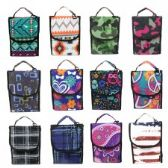 "24 Units of 10"" Insulated Lunch Bag Assortment in Fashion Prints - Lunch Bags & Accessories"