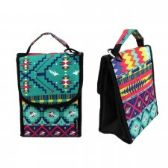 "24 Units of 10"" Insulated Lunch Bag In a Dark Aztec Print - Lunch Bags & Accessories"