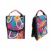 "24 Units of 10"" Insulated Lunch Bag In Peace and Flower Print - Lunch Bags & Accessories"
