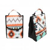 "24 Units of 10"" Insulated Lunch Bag In a Light Aztec Print - Lunch Bags & Accessories"