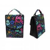 "24 Units of 10"" Insulated Lunch Bag In a Multi Color Owl Print - Lunch Bags & Accessories"