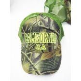"24 Units of ""California"" Camo Base Ball Cap - Baseball Caps & Snap Backs"
