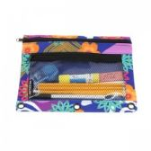 48 Units of Pencil Case In a Flower and Heart Print - Pencil Boxes & Pouches