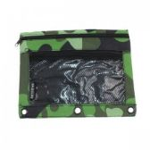48 Units of Pencil Case In a Green Camouflage Print - Pencil Boxes & Pouches