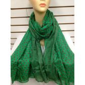 36 Units of POLKA DOT SCARF (Green)