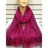 36 Units of POLKA DOT SCARF (Pink)
