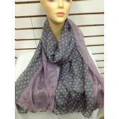 36 Units of POLKA DOT SCARF (Grey)