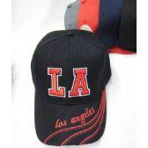 """48 Units of """"Los Angeles"""" Base Ball Cap - Baseball Caps & Snap Backs"""