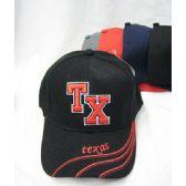 """48 Units of """"Texas"""" Base Ball Cap - Baseball Caps & Snap Backs"""