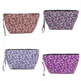 60 Units of Quilted Cosmetic Make Up Bag in a Floral Print