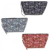 60 Units of Quilted Cosmetic Make Up Bag in Pretty Paisley