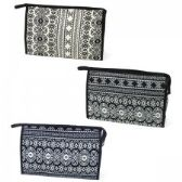 60 Units of Large Cosmetic Make Up Bag in an Aztec Print