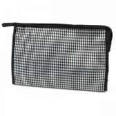 60 Units of Large Cosmetic Make Up Bag in Houndstooth