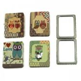 120 Units of Owl Rectangular Cosmetic Mirror - Cosmetic Mirrors