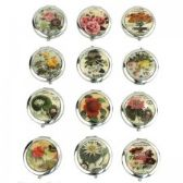120 Units of MIRROR-FLOWER: Circular Cosmetic Mirror - Cosmetic Mirrors