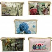 60 Units of Cosmetic Make Up Bag in Pretty Prints
