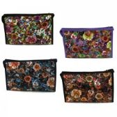 60 Units of Cosmetic Make Up Bag in a Floral Print