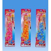 72 Units of 11 Doll in blister card assorted. dress - Dolls