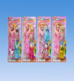 72 Units of 11 Doll with dress in blister card asst. - Dolls