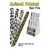 60 Units of NAIL ANIMAL PRINTED NAIL FILE