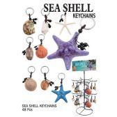 48 Units of SEA SHELL KEY CHAIN