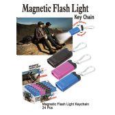 24 Units of MAGNETIC FLASH LIGHT KEY CHAINS